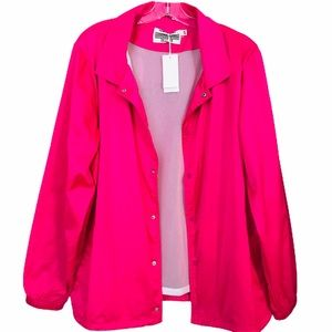 💫🆕Tory Burch | Bright Pink Satin Warm Up Jacket